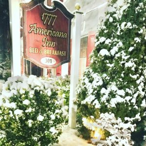 1777 Americana Inn in the wintertime