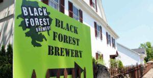 Black Forest Brewery Sign near 1777 Americana Inn