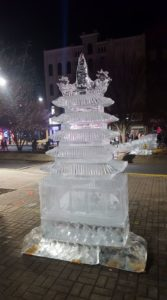 Reading Pagoda Fire and Ice Sculpture
